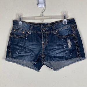 Request Jeans- Rhinestone Pocket Denim Shorts sz7
